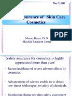 Safety Assurance of Skin Care Cosmetics-masato Hatao Ph.d.-shiseido Research Center