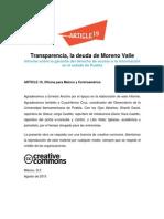 Transparencia, la deuda de Moreno Valle