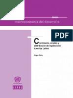 Crecimiento , Empleo y Distribucion de Ingresos en America Latina