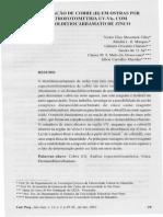 Artigo 1 - Determinação de Cobre Em Ostras