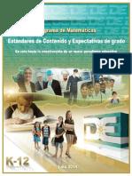 Estándares y Expectativas del Programa de Matemáticas 2014