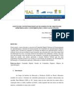 Gestao de Conteudos Digitais No Formato de Objetos de Aprendizagem Constribuicoes a Educacao Onli