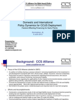 Domestic and International Policy Dynamics for CCUS Deployment