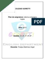Plan de Asignatura Goretti 2012