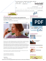 4 Receitas de Sucos Detox Para Desinchar - Alimentação - Saúde - MdeMulher - Editora Abril
