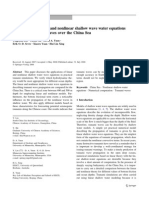Comparison of Linear and Nonlinear Shallow Wave Water Equations Applied to Tsunami Waves Over the China Sea