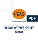 Design of Offshore Pipelines_Materials