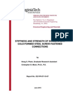 Stiffness and strength of single shear cold-formed