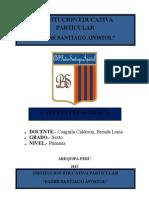 Contenido de La Carpeta Pedagógica Padre Santiago Apostol 2