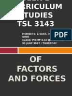 Tutorial Week 2- Curriculum Studies