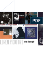 DISCOGRAPHY POSTER - LOREN PICKFORD