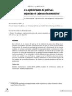 Un Modelo Para La Optimizaciyn de Polyticas de Inventario Conjuntas en Cadenas de Suministro