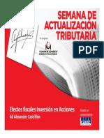 Efectos Fiscales Inversion en Acciones