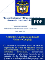 DESCENTRALIZACION Y FINANCIAMIENTO
