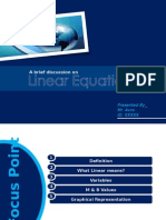 Business Math Linear Equation(2003-2007)