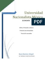 Oferta y demanda en México de productos