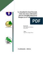 Tesis Densidad de Dosel Forestal, como alternativa de la clasificación de los Bosques