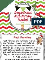 Gingerbread Fact Family Freebie