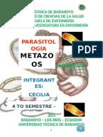 PARASITOLOGIA -- METAZOOS