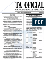 Sumario Gaceta Oficial 39.374