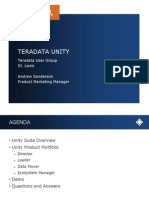 Teradata Unity Powers the UDA - Andy Sanderson