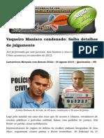 Vaqueiro Maníaco Condenado Saíba Detalhes Do Julgamento