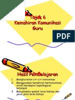 Tajuk 6 Kemahiran Komunikasi Guru Komunikasi EDU3106