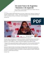 Nova diretora do Banco Central argentino