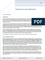 Outsourcing - Key Legal Issues and Contractual Protections