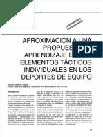 APROXIMACiÓN A UNA PROPUESTA DE APRENDIZAJE DE LOS ELEMENTOS TÁCTICOS INDIVIDUALES EN LOS DEPORTES DE EQUIPO. Gerard Lasierra.pdf