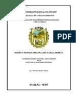 Cuaderno de Mineria a Cielo Abierto de La Facultad de Ingenieria de Minas