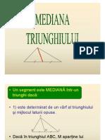 Cum Demonstram Medianatriunghiului