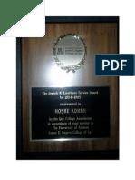 Joseph Livermore Service Award