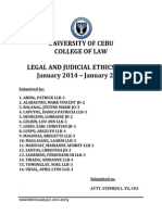 Legal & Judicial Ethics Case Digests (January 2014 - January 2015)