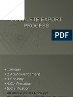 Complete Export Process
