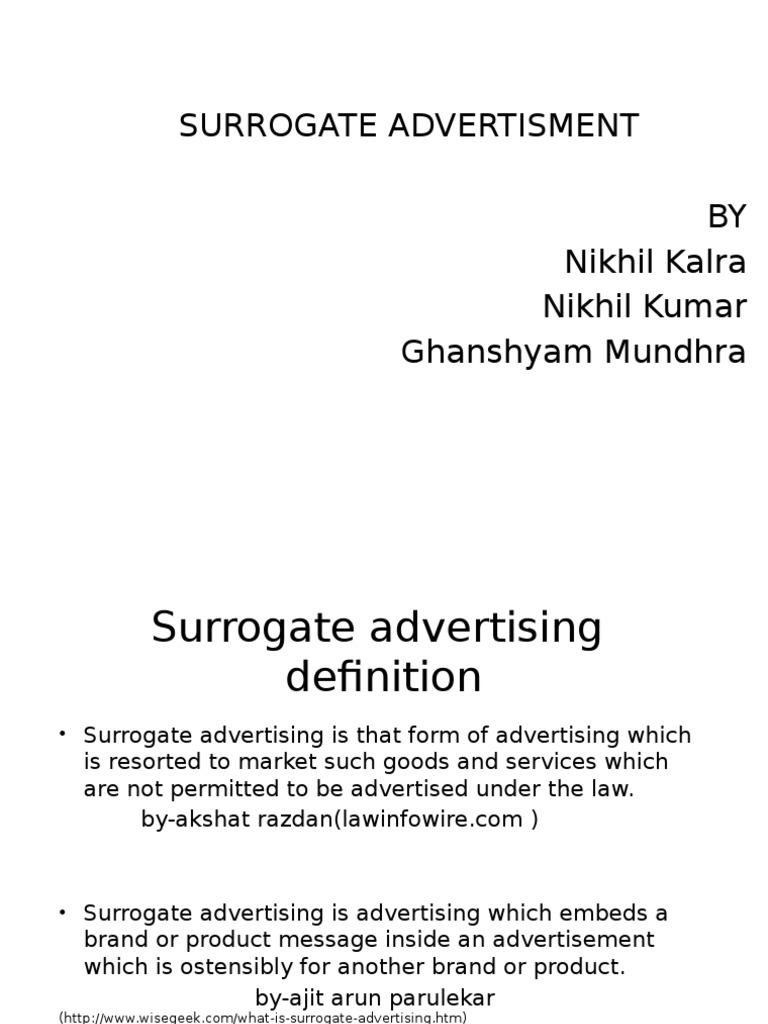 surrogate advertising | advertising | brand