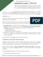 Schimbari La Contabilitatea Simpla – PFA II if – II-If-PFA