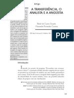 A Transferencia, o Analista e a Angustia