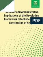 Economic and Administrative Implications of Devolution