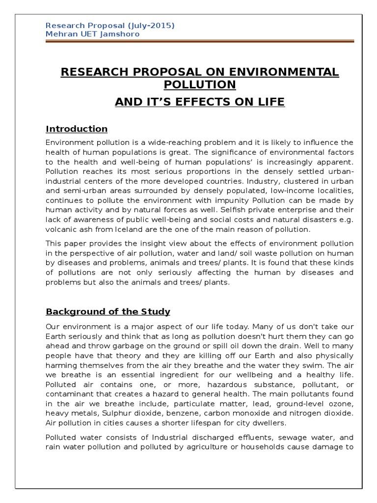 air pollution proposal essay Research proposal presentation - duration: 5:40 jasmine vega 15,877 views  essay on air pollution - duration: 2:39 writting and grammar for bac students 85,131 views.