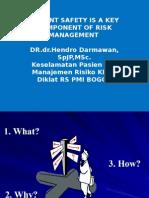 Patient Safety is a Key Comp. Risk Managemen