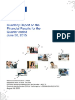 Quarterly Report for June 30, 2015 [Company Update]
