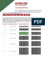 IDAutomation Free Code 39 Font Manual