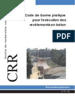 Code de bonne pratique pour l'exécution des revêtement en béton.pdf