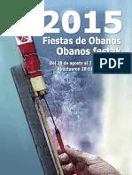 Fiestas de Obanos 2015. Programa-Egitaraua