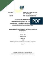 Informe de Municipalidad Del Lago Azul
