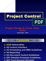 Projects Control FEED