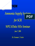 5) Ammonia Supply Systems for SCR