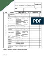 Check-List de Inspeção Final (Áreas Comuns)