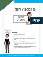 Cobertura Curricular Historia 6basico-2012